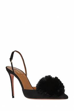 Бархатные туфли Powder Puff Sling 105 Aquazzura 97552632