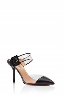 Черные мюли Optic Mule 85 Aquazzura 97592446