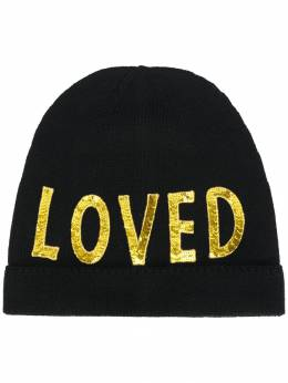 Gucci шапка с вышивкой 'Loved' 4813563G206
