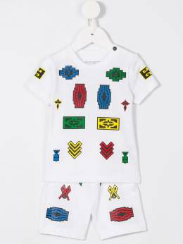 Marcelo Burlon County Of Milan Kids - шорты Logo 36609065998359660000