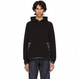 Moncler Black Maglia Down-Filled Hoodie 82008 00 80985