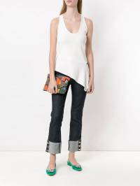 Tufi Duek - top with lace up detail 86635393606358000000