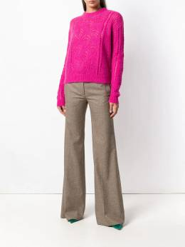 Rochas - embroidered fitted sweater N359963RNY0963936569
