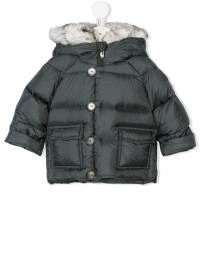 Il Gufo - faux-fur trimmed padded coat GM069N66359398303000