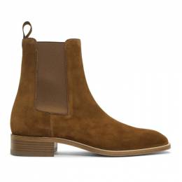 Christian Louboutin Brown Suede Samson Chelsea Boots 1180276