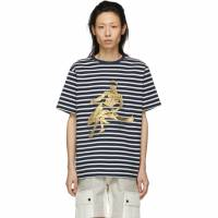J.W. Anderson Navy Gilbert and George Edition Foil Dolphin T-Shirt