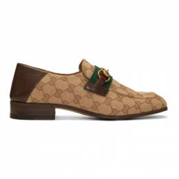 Gucci Beige and Brown GG Bonny Loafers 546223 KY9Z0