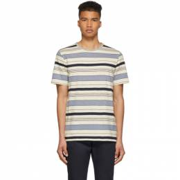 A.P.C. Off-White and Blue Robert T-Shirt 191252M21302402GB