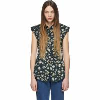 See by Chloe Green and Multicolor Button-Down Shirt
