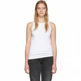 Helmut Lang White Stacked Tank Top 192154F11100102GB