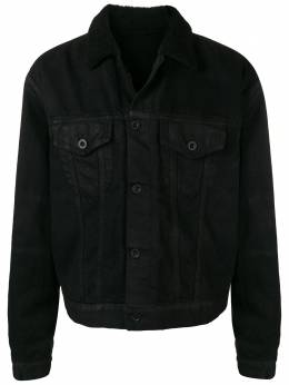 Unravel Project buttoned fur collar jacket UMYE002F182300121010
