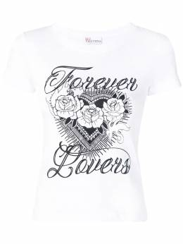 Red Valentino - футболка с принтом Forever Lovers MG66SRMX939566680000