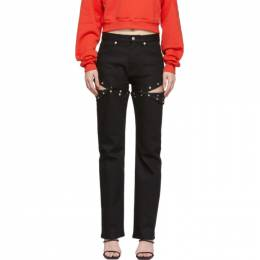 1017 Alyx 9Sm Black Convertible Harlequin Jeans AAWPA0026A001