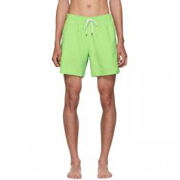 Polo Ralph Lauren	 Green Traveler Swim Shorts 191213M20800906GB
