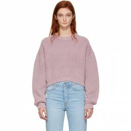 T by Alexander Wang Pink Cropped Utility Sweater 192214F09600203GB