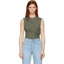 T by Alexander Wang Khaki Twisted Top 4CC2191062