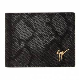 Giuseppe Zanotti Design	 Black Hooligan Bifold Wallet 192266M16400101GB