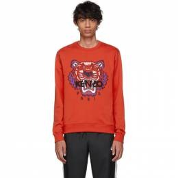 Kenzo Red Limited Edition Embroidered Tiger Sweatshirt F955SW0014Z5