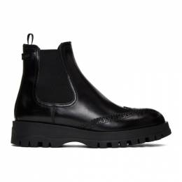 Prada Black Oxford Chelsea Boot 1T056L B4L