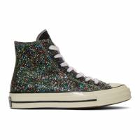 J.W. Anderson Black and White Converse Edition Glitter Chuck 70 High Sneakers