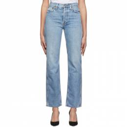 Re/done Blue Originals High-Rise Loose Jeans 188-3WHRL