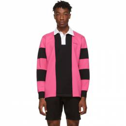 Saturdays Nyc Pink and Black Sanders Polo M31911SD02
