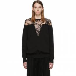 Givenchy Black Lace-Trimmed Sweater 192278F09600103GB