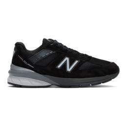 New Balance Black and Silver Made In US 990v5 Sneakers M990BK5