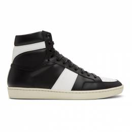 Saint Laurent Black and White Court Classic SL/10H Sneakers 4180260MP30