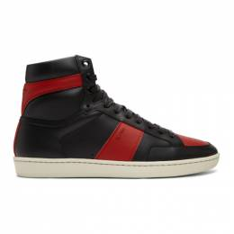 Saint Laurent Black and Red Court Classic SL/10H Sneakers 4180260MP30