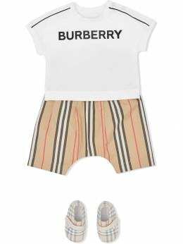 Burberry Kids - футболка с логотипом 39959563305800000000