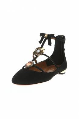 Туфли Aquazzura PANFLAA0SUE000BLACK