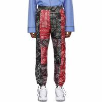 Palm Angels Black and Red Bandana Patchwork Aftersport Track Pants