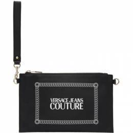 Versace Jeans Couture Black Stamped Logo Pouch 192202F04500101GB