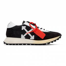 Off-White Black and White Running Sneakers OMIA127E19D380461001