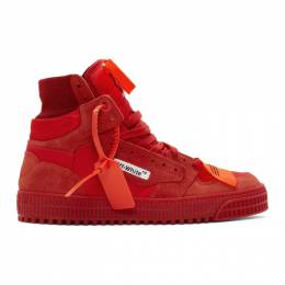 Off-White Red Off Court Sneakers OMIA065E198000022000
