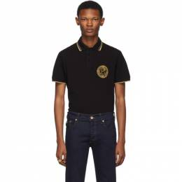 Versace Jeans Couture Black Medallion Polo 192202M21200502GB