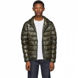 Herno Green Down Hooded Jacket 192829M17800305GB