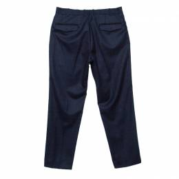 Ermenegildo Zegna Navy Blue Wool Slim Fit Trousers M 145170