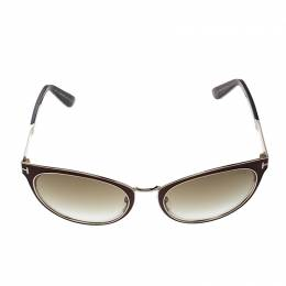 Tom Ford Brown TF373 Nina Cat Eye Sunglasses