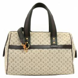 Louis Vuitton	 Khaki Monogram Mini Lin Josephine GM Bag