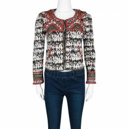 Isabel Marant for H&M Embellished Tie Dyed Quilted Cropped Jacket S 115081