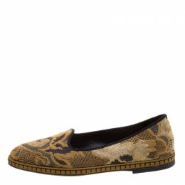 Etro Beige Brocade Loafers Size 37.5