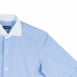 Tom Ford Men's Blue Fine Striped Shirt S 44347