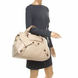 Balenciaga Beige Leather Giant 21 Midday Bag 175521