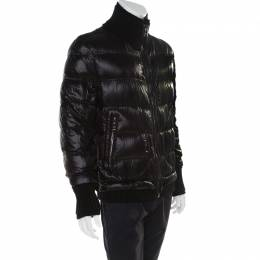 Dolce and Gabbana Black Quilted Bomber Jacket M 174798