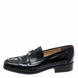 Dolce and Gabbana Black Leather Vintage Loafers Size 37.5
