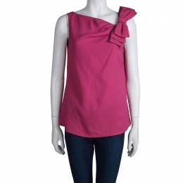 Red Valentino Pink Bow Detail Sleeveless Top M 79830