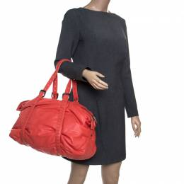 Bottega Veneta Magma Plume Leather Duffle Bag 195112