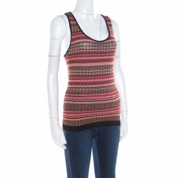 M Missoni Multicolor Patterned Knit Tank Top M